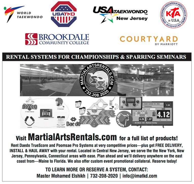 Master Park's Black Belt America tournament thanks